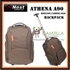 Nest Athena A90 rolling camera bag backpack - Brown